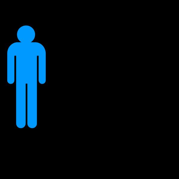Boy Stick Figure - Blue PNG Clip art
