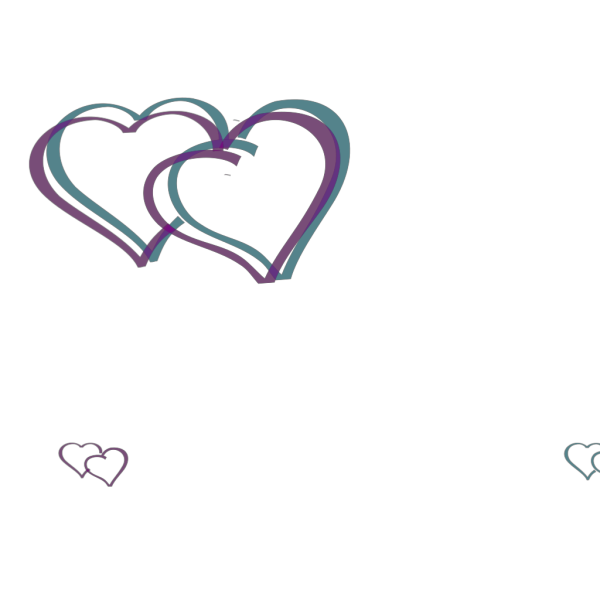 Double Hearts PNG Clip art