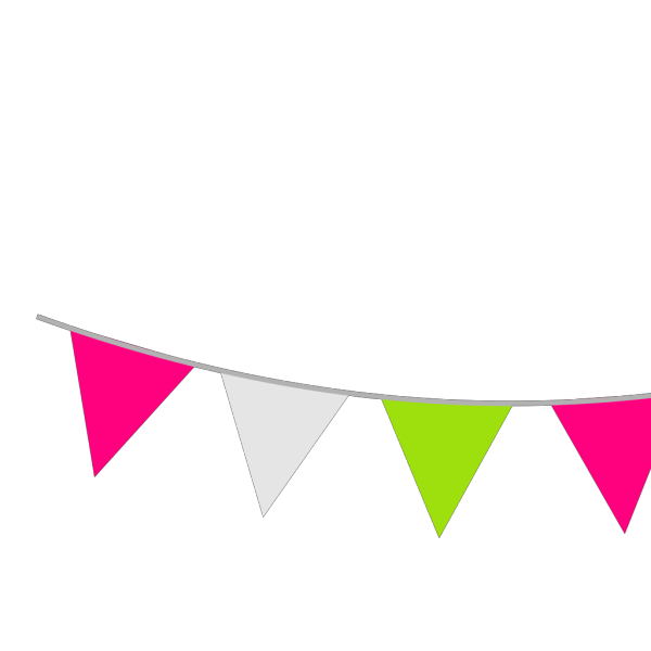 Colour Bunting PNG Clip art