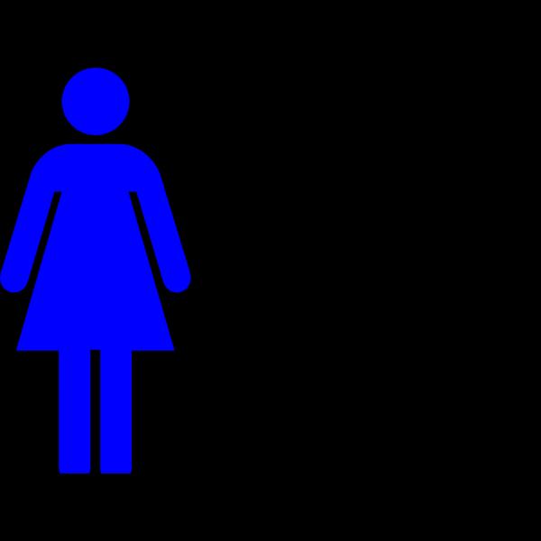 Blue Female Restroom Symbol PNG Clip art