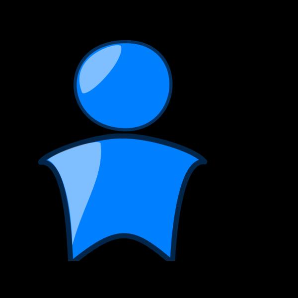 Blue Head Icon PNG Clip art