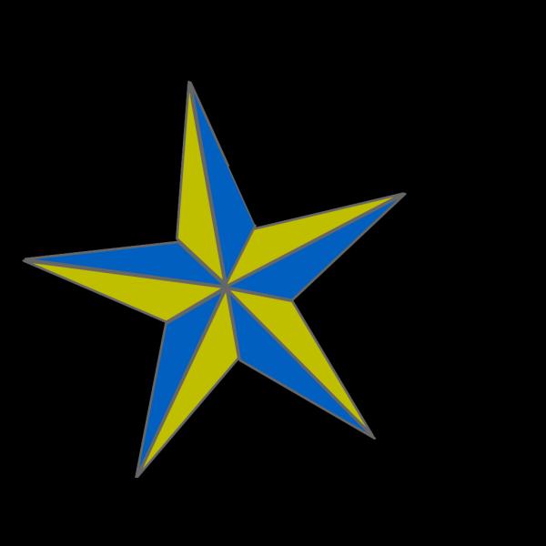 Blue/gold Naut. Star PNG Clip art