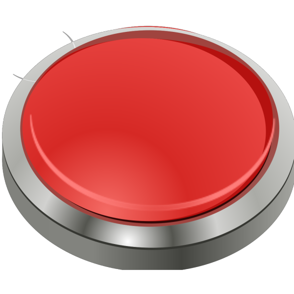 Red Button, Blue Border PNG Clip art