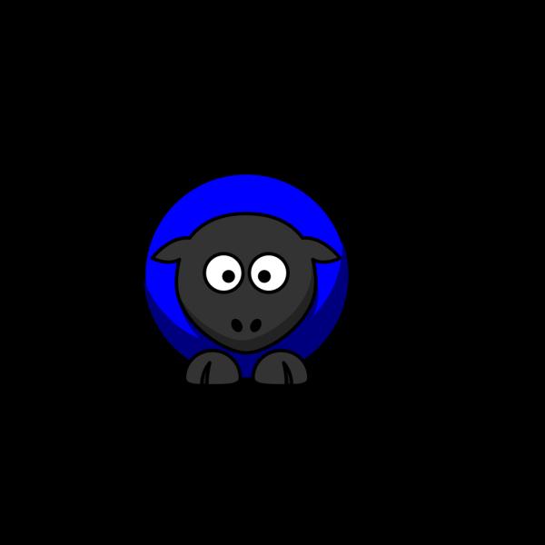 Blue Sheep No Flower PNG Clip art