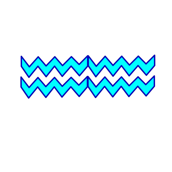 Blue Turquoise Chevron PNG icons