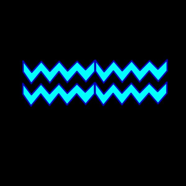 Blue Turquoise Chevron PNG Clip art