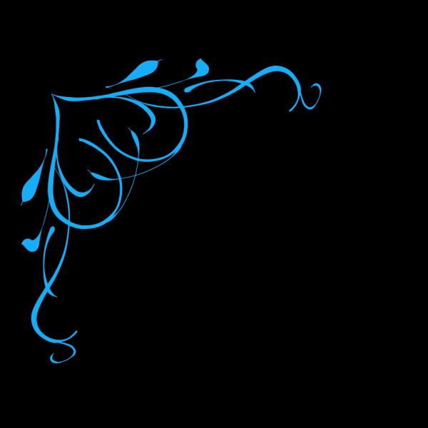 Blue Swirl Heart PNG Clip art