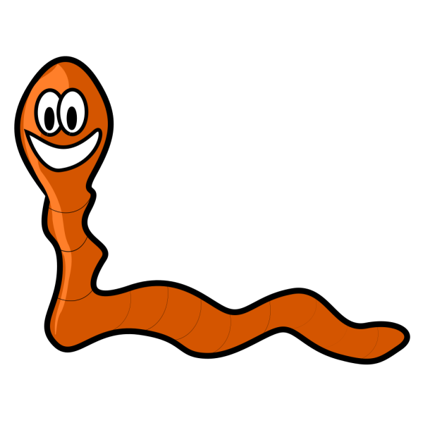 Worm Made By Shapes PNG Clip art