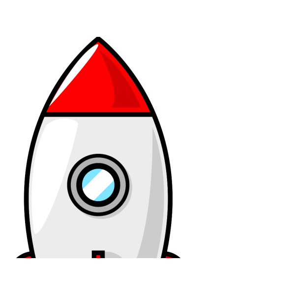 Red And Blue Rocket PNG Clip art