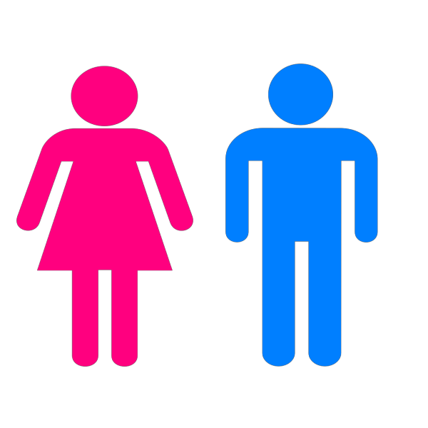 Partially Filled Bathroom Sign PNG Clip art