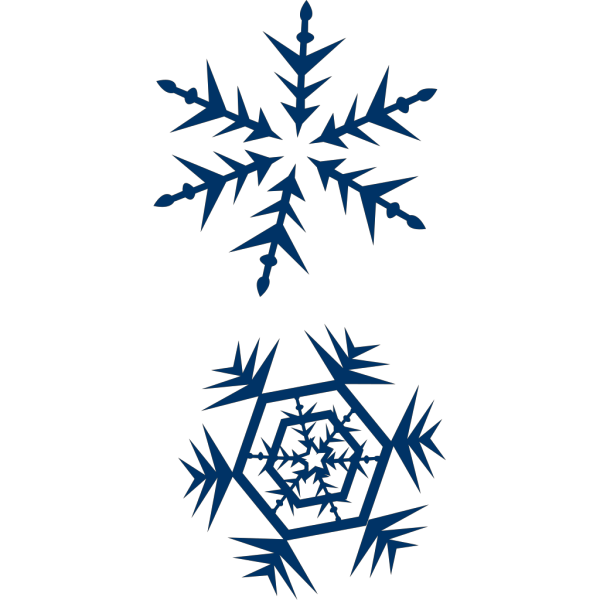 Blue Snow Flakes PNG image
