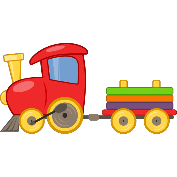 Choo Choo Train With Cars PNG Clip art