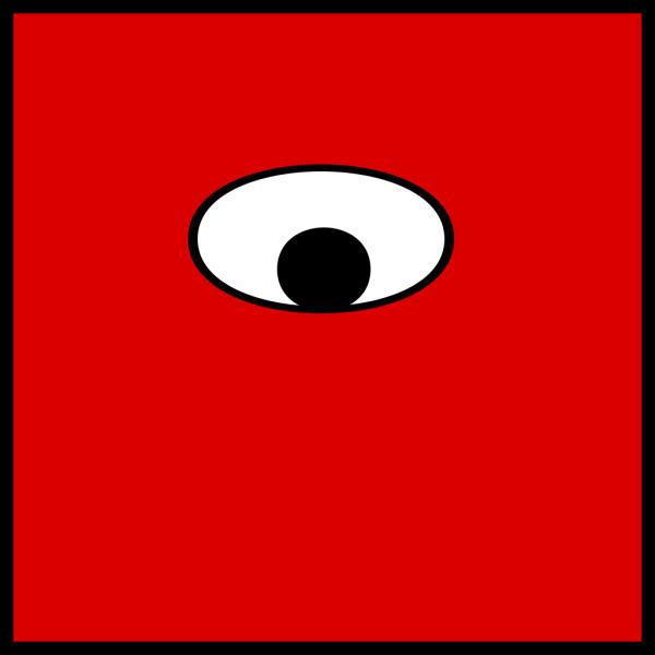 Blue One Eyed Monster PNG Clip art