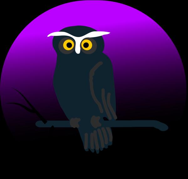Blue Owl H PNG Clip art
