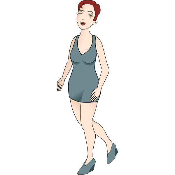 Woman In Blue Dress PNG Clip art
