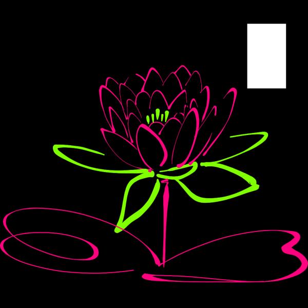 Lotus Outline Blue PNG Clip art
