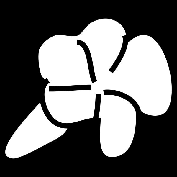Lotus Flower Outline Blue PNG Clip art