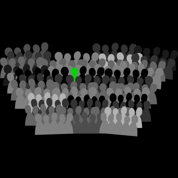 Blue Crowd PNG Clip art