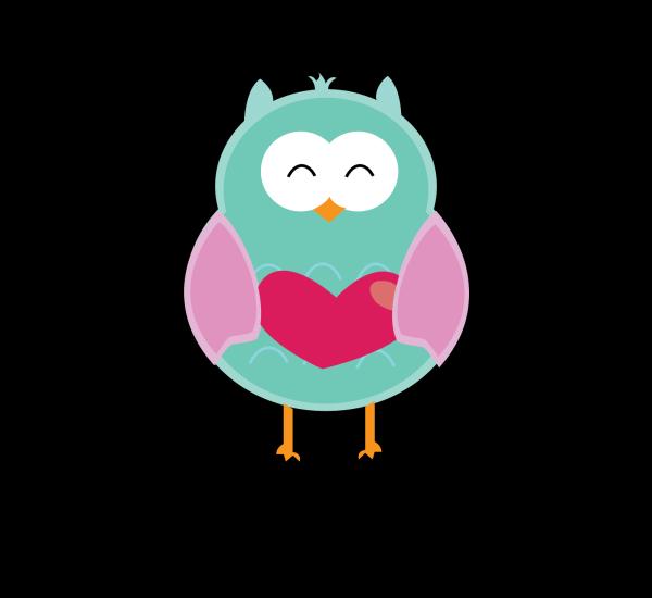 Mint Owl PNG Clip art