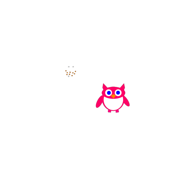 Pink Owl PNG clipart