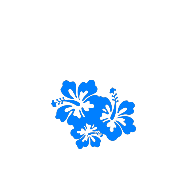 Hibiscus Blue Shades PNG Clip art
