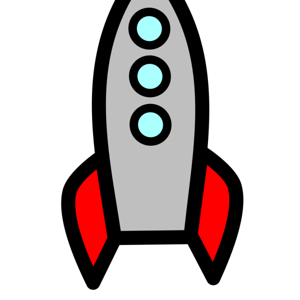 Blue Rocket Ship PNG icon