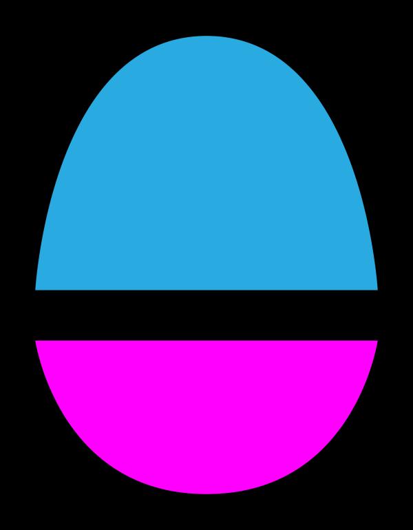 Blue Bunny Head PNG Clip art