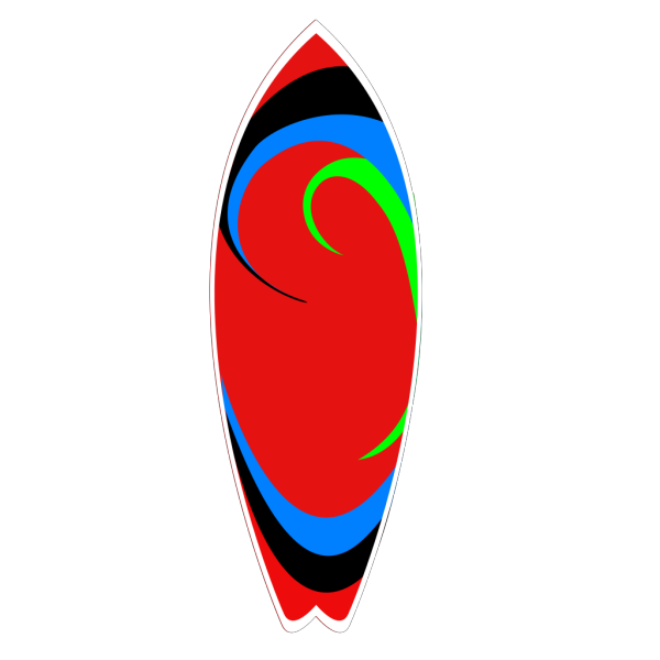 Red White And Blue Surfboard PNG images