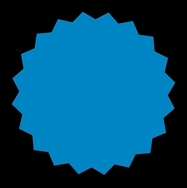 Solid Blue Star PNG Clip art