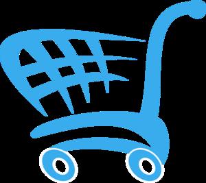 Shopping Cart Blue PNG Clip art