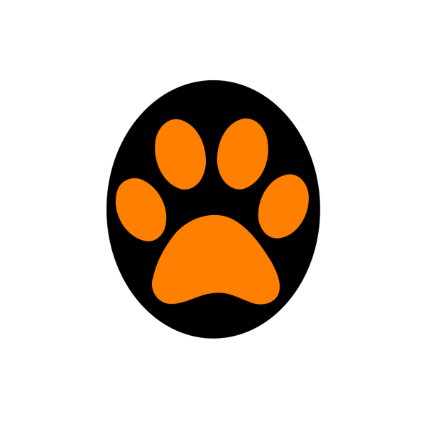 Panther Paw Print PNG Clip art