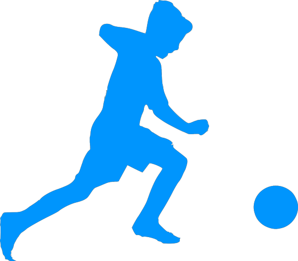 Blue Football Shape PNG Clip art