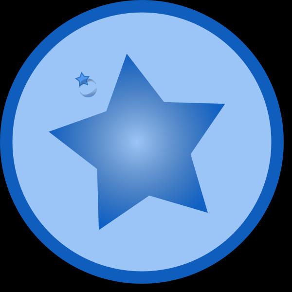 North Star Solid Blue PNG Clip art