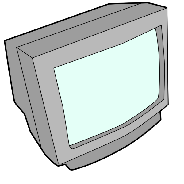 Crt Monitor With Power Light PNG Clip art