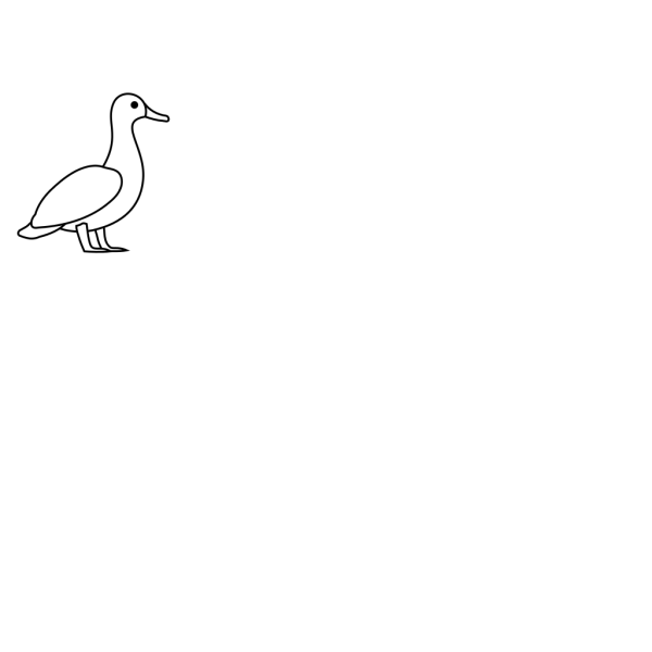 Duck Outline PNG Clip art