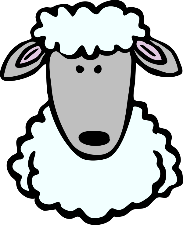 Sheep Blue Two Toned PNG clipart