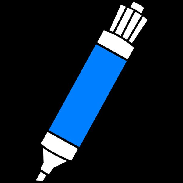 Blue Dry Erase Marker PNG Clip art
