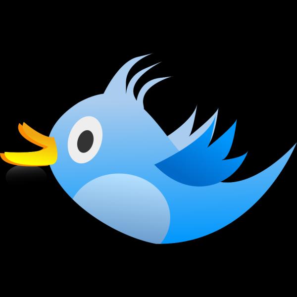 Blue Tweet Bird PNG Clip art