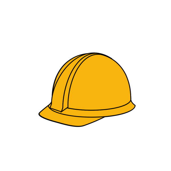 White Hard Hat PNG clipart