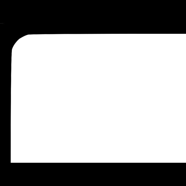Blue Marker Black Border PNG Clip art
