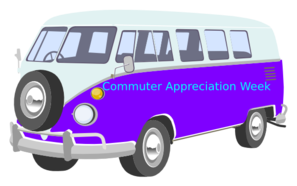 Blue White Vw Bus Straight On PNG Clip art