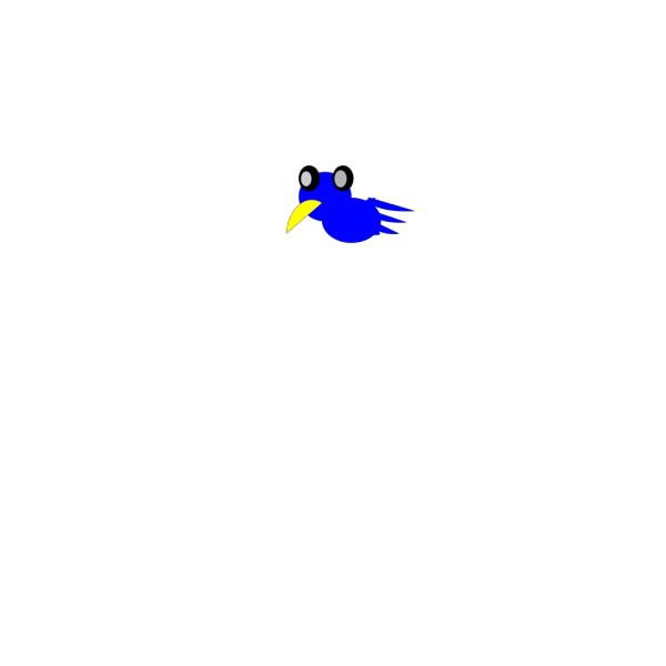 Cartoon Blue Bird PNG Clip art