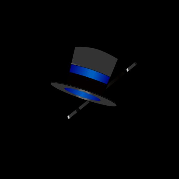 Blue Top Hat PNG Clip art