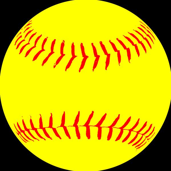Yellow Softball PNG Clip art