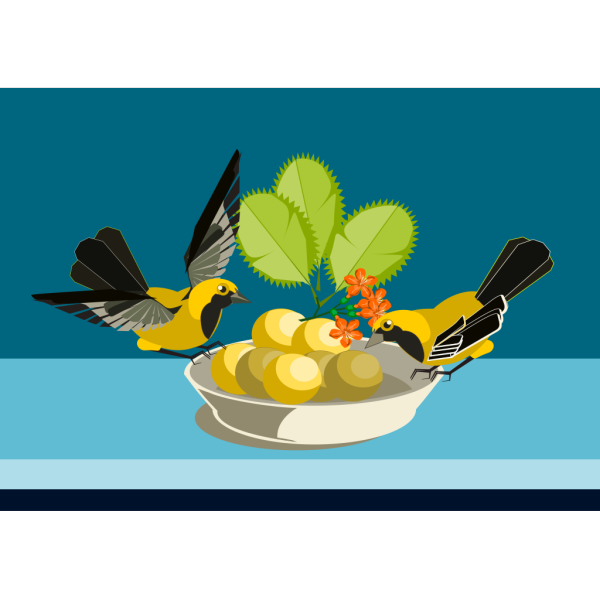 Birds Eating PNG Clip art