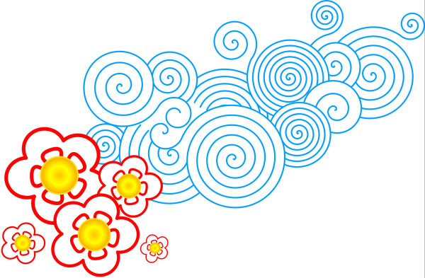 Floral Swirls PNG Clip art
