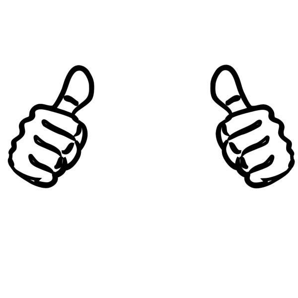 Two Thumbs Up, Purple, Blue PNG Clip art