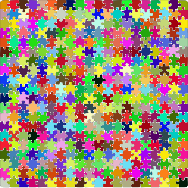 Square Jigsaw Puzzle PNG Clip art