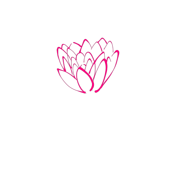 Pink Lotus Outline On Dark Navy PNG Clip art