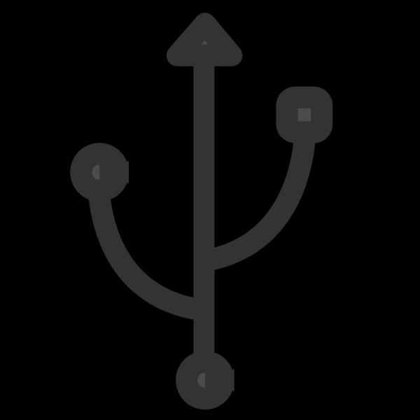 Broken Usb Blue PNG Clip art